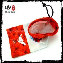 Bolso de sunglass de encargo del nuevo producto al por mayor promocional, gafas de sol del bolso del paño, caso de anteojo personalizado