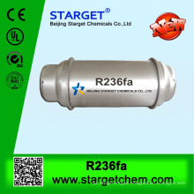 Refrigerant gas R236FA in steel refillable cylinder