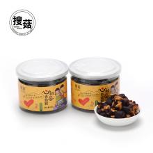 VF chino setas secas aperitivos saludables comida crujiente