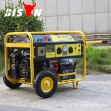 BISON CHINA TAIZHOU 5kw Expérimenté Fournisseur CE Certifié 220V 5kva Ensemble de générateur d'essence silencieux