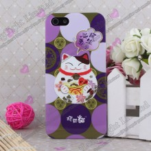 Lucky Cat Pattern Hard Plastic Case For iPhone 5