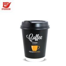 Tasse de papier de café imprimée par coutume de bonne qualité
