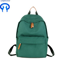 Canvas leisure simple backpack college wind travel bag