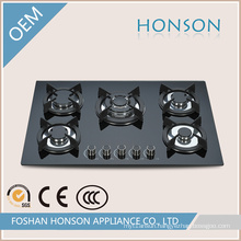 Five Burners Tempered Glass Built in Gas Hob Gas Stove
