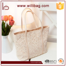 Cheap Handbag With Lace Flower On Surface Of Shoulder Bag