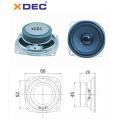 66mm 4ohm 5w rms ferrite magnet fullrange speaker