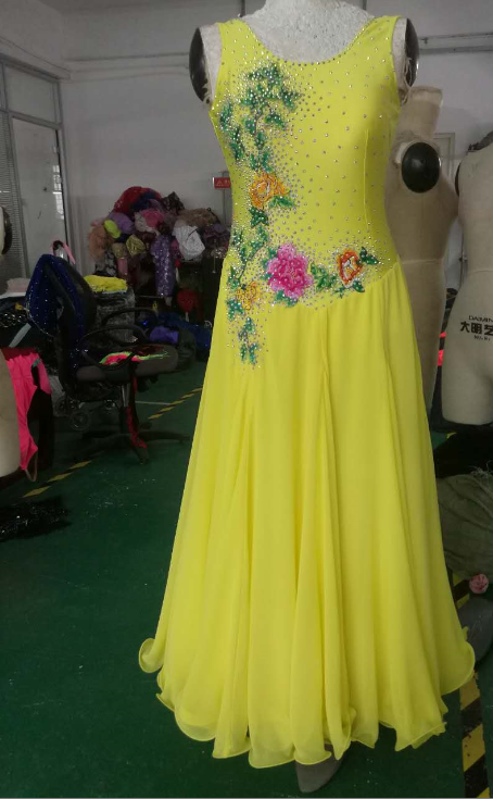 Yellow Ballroom Dresses For Girls