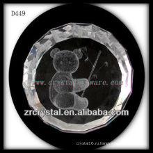 К9 лазерный 3D животное внутри кристалла круг