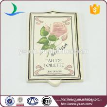 Toalete indicador bordo com flor e palavra
