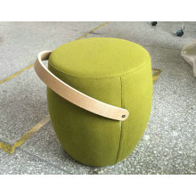 Upholstered pouf carry on children small stool