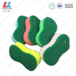 8 shape scouring cleaning sponge pad