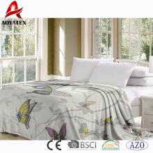 New animal design digital printed blanket super soft flannel blanket factory china