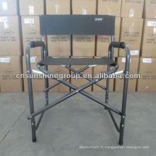 Pliante toile administration chaise en aluminium résistant