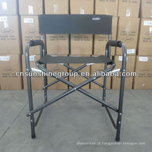 Dobradura tela diretores cadeira alumínio resistente