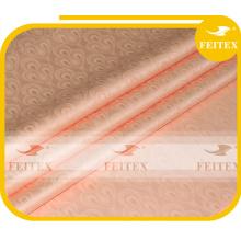 FEITEX Pfirsich Farbe African Jacquard Stoff gefärbt 100% Baumwolle Guinea Brokat Damast Shadda