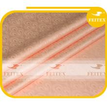 Tissu jacquard africain FEITEX couleur pêche, teinté, 100% coton, damassé de brandeque, damas shadda