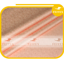 FEITEX peach color African jacquard fabric dyed 100% cotton guinea brocade damask shadda
