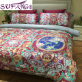 egyption cotton fabric digital printed bedding set