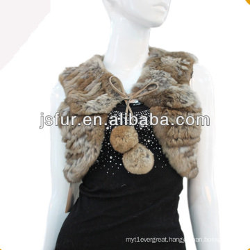 2013 new product lovely real rabbit fur women shawl