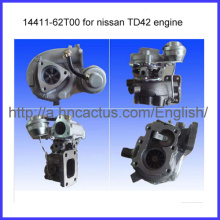 Excellent Turbocharger Td42 Engine Ht18 14411-62t00 for Nissan