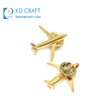 Custom Design Your Own 3D Gold Aircraft Pin Badge Metal Aeroplane Fighter Plane Wing Brooch Manufacturer Tie Pin Wholesale Soft Hard Enamel Airplane Lapel Pin