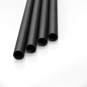 1000mm Längd Twill Matt Carbon Fiber Tubes