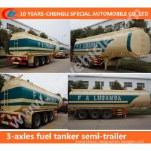 3-Axles 42cbm Fuel Tanker Truck Trailer