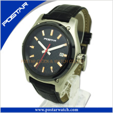 Quartz Watch for Men with Genuine Leather Band