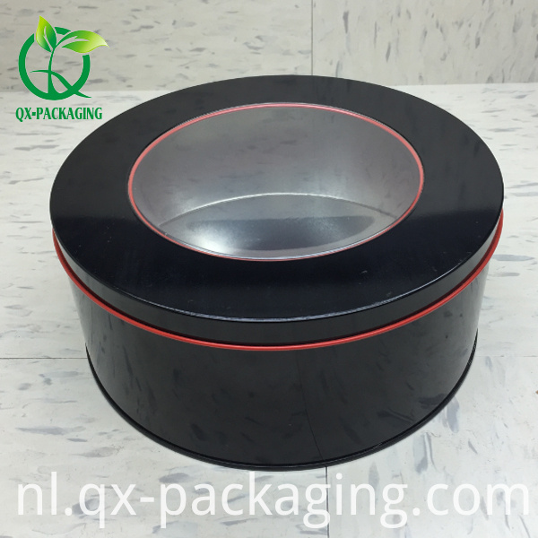 Customed Round Tin Box With Window