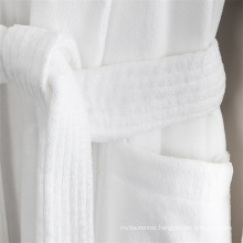 White Color Hotel Quality 100 Cotton Women Bathrobe