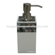 Distributeur de pompe à bouteilles de cuisine en mosaïque à la perle à la noix de mer Canosa noir