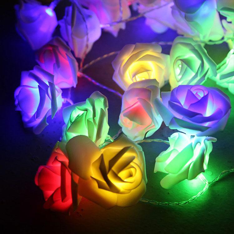 rose flower led holiday light