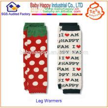 Venta caliente de alta calidad suave bebé pierna calentadores