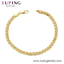 75453 xuping trend fashion hot sale high quality gold plated bracelet