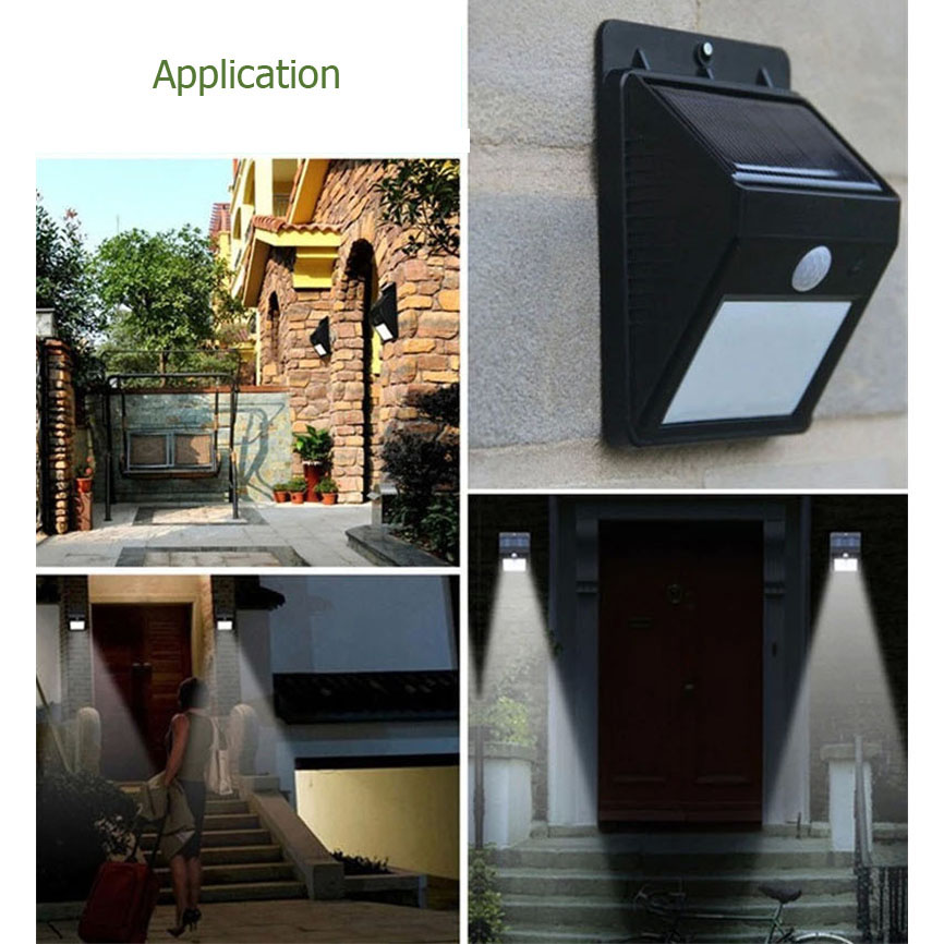 Solar intergrated sensor wall light