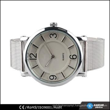 big case watch mens stainless steel quartz watch