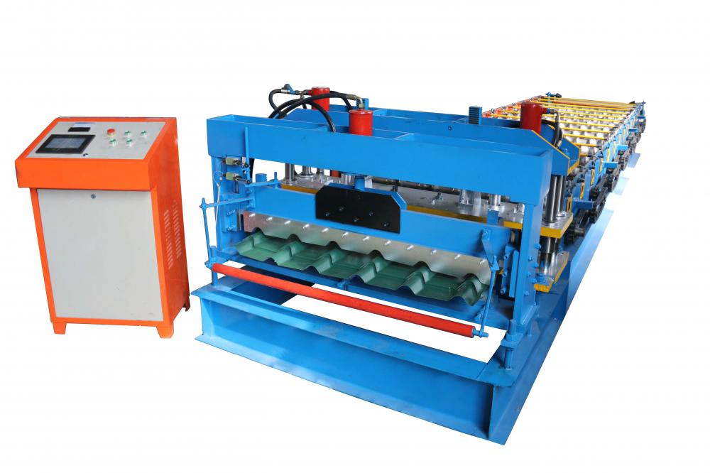steel roof glazed metal roll forming machine