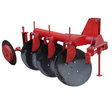 Farm land used disc plough with scraper