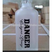 Máquina de impressão de garrafas de vidro perfume, 6 cores impressora de almofada de bandeja de tinta com transportador, impressora de almofada para impressão de garrafa