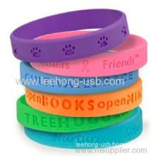 Custom Debossed Logo Bracelet For Promotion