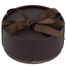 Fashion Style Cylinder With Ribbon Bow Gift Box