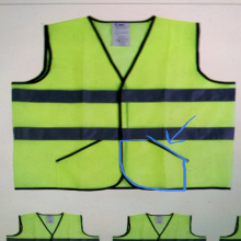 Polyester knitted pocket safety vest