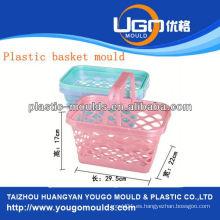 Compras cesta de plástico molde molde de la cesta de inyección en taizhou zhejiang china