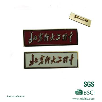 Emblema duro da placa de identificação da forma do retângulo do esmalte