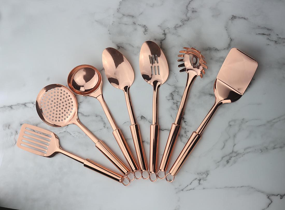 Copper Kitchen Utensils Set