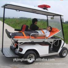 tipo bonde elétrico do carro de golfe ambulância com o motor 4kw
