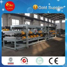 Color acero EPS o cadena de producción del tablero compuesto de lana de roca