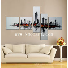 Modern Group Building Oil Paintings on Canvas