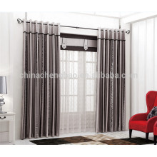 2015 latest curtain designs raw silk fabric for curtains