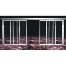 Porta deslizante automática telescópica de 6 asas